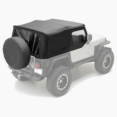 1997-2006 Jeep Wrangler Replacement Soft Top with Tinted Windows & Upper Doors