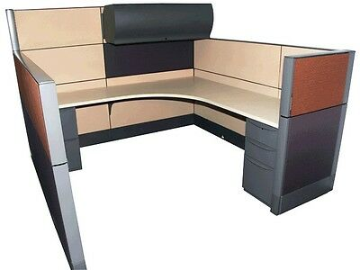 "Haworth Premise 7'x7'-64""-48"" Office Cubicles / Workstation Office Furniture"