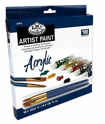 Royal & Langnickel Artist Paint Pack - Acrylic (18 x 12ml Pack) ACR18