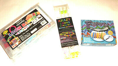 1600, 600 Loom Bands Colorful ,krazy ,fairy Tail Loom Band Set Kit