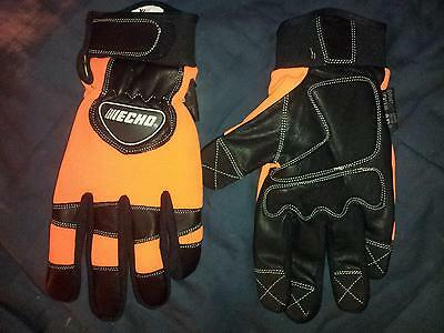 Chainsaw Safety Gloves Echo Large Gloves Kevlar Lined Vibration Reducing Gloves