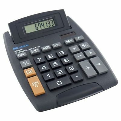 Jumbo Desktop Calculator 8 Digit Large Button School Home Office Battery Solar