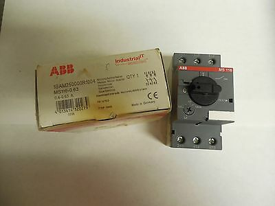 New Abb Manual Motor Starter Ms116-0.63 0.4-0.63A A Amp 3 Pole Ms116063