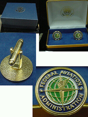 Pair of  new FEDERAL AVIATION ADMINISTRATION CUFFLINKS FAA
