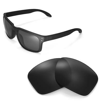 New Walleva Black Replacement Lenses For Oakley Holbrook Sunglasses