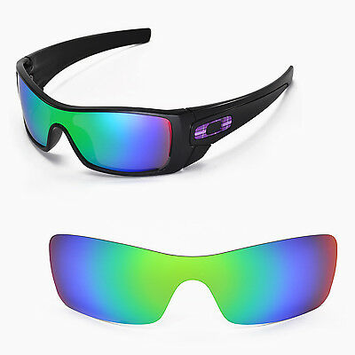 New Walleva Polarized Emerald Replacement Lenses For Oakley Batwolf Sunglasses