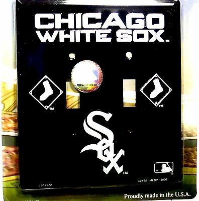 Novelty electric light switch cover MLB Chicago White Sox double switch cover