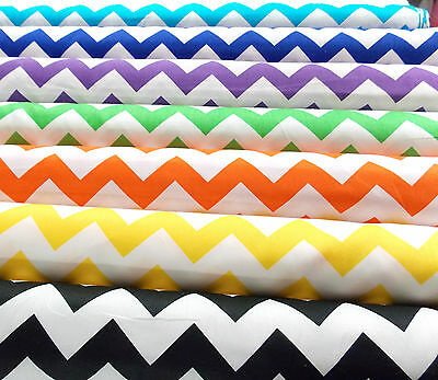 PATCHWORK NEW Fabric CHEVRON 100% Cotton Dressmaking Quilting Material Plain Sew