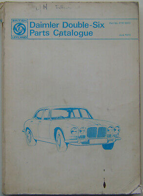 Daimler Double Six (XJ) Original Illustrated Parts Catalogue 1973 No. RTC 9013