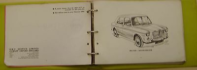 MG 1100 Original illustrated Service Parts List No. AKD 3008 1962