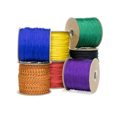 """Type 1 Paracord 95 LB Tensile Strength 1/14"""" Dia. Tactical Cord - 1 Strand 2 Ply"""