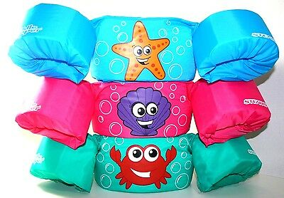 New Coleman Stearns Puddle Jumpers,three Different Disney Character 30 - 50 Lbs