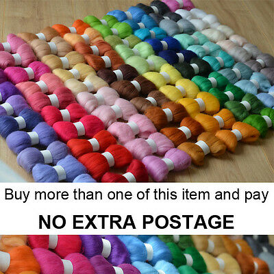 80 Colours Felting Wool Tops Roving PART 1 - Premium Australian Wool Needle Felt