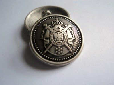 M2089 LARGE COAT OF ARMS SILVER & BRASS & GOLD METAL BUTTONS 15-18-21-23-26mm