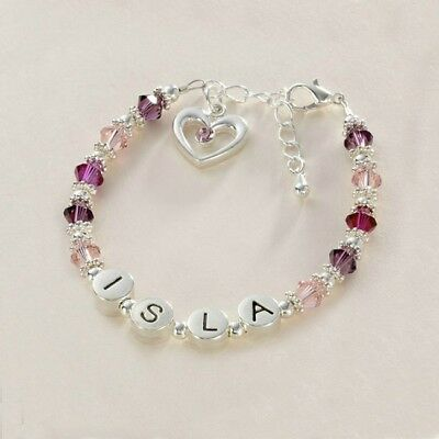 Present for Bridesmaid, Flower Girls, Personalised Name Bracelet, High Quality