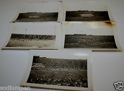 Old Original Lot Of 5 1940`s Cal State Bears Football Black & White Photographs