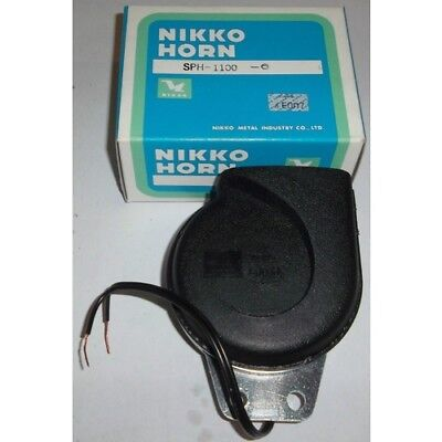 Universal Car Truck Tractor Motorcycle 6v Horn Nikko Made in Japan