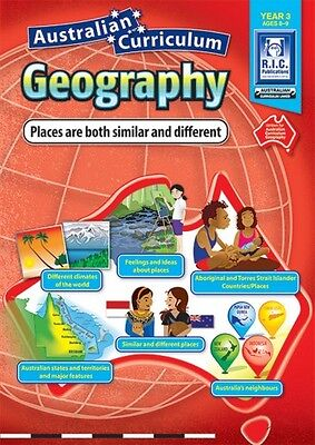 Year 3 Places are Similar & Different Aust Curriculum Geography BNew Teacher BLM