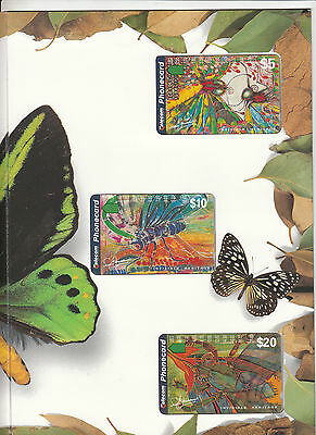 Phonecards 1995 Invisible Hertitage issue magnetic set of 3 limited edition pack