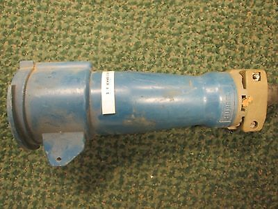 Hubbell  Connector  360C3W  60A  250VDC  2P  3W  Wire Connection  **Missing Cap