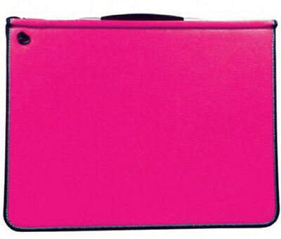 Mapac A3 Premier Portfolio Fuchsia Pink + Sleeves : Choose 5 10, 15, 20 Sleeves
