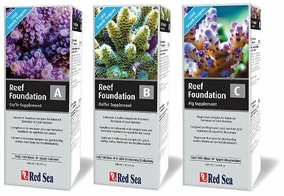 Red Sea Reef Foundation 1 of Each  A  B  C 500 ML Set  Calcium Kh & Magnesium