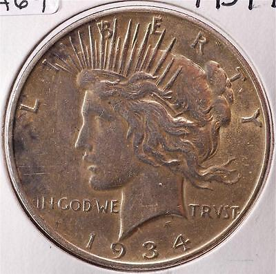 1934 - D, Peace Dollar, Ships For Free!! PDA69