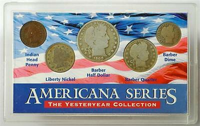Americana Series Yesteryear Collection 5 Coint Set with Silver Coins, Ships Free