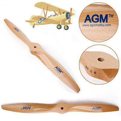 AGM Wood Wooden Propeller Prop 19x8 for RC Aircraft, Wooden Aircraft Propeller