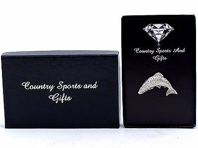 Trout Pewter Lapel Hat Pin Badge - Angling Game Fishing - Ideal Gift