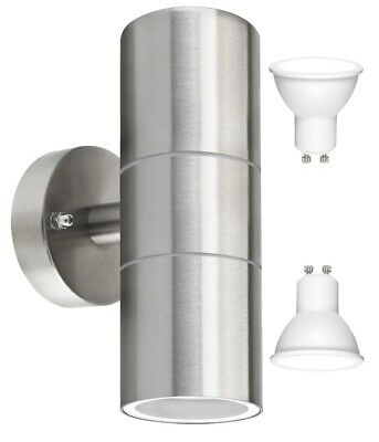LED Modern Stainless Steel Up Down Outdoor Double Wall Light COOL WHITE LIGHT
