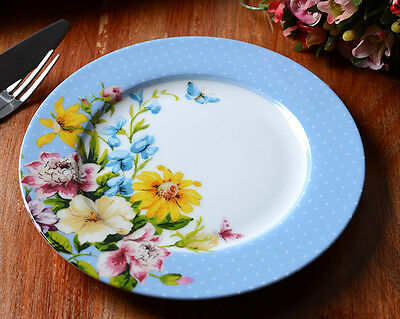 Creative Tops Katie Alice English Garden Blue Spot Porcelain Side Plate