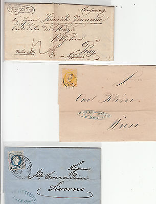 Stamps Austria 1800's period group of 10 covers, wrappers, postcard, etc