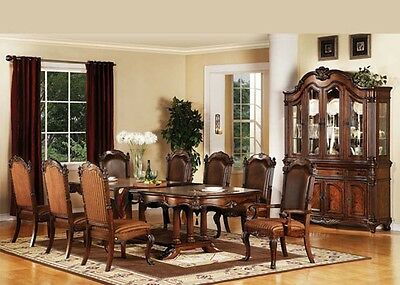 Acme 60030 Remington Traditional Cherry Finish Dining Table Set