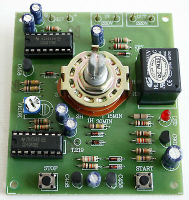 15 Minutes to 10 hours Delay Off  Timer Relay  12V  5A  Assembled Kit  [ FA407 ]
