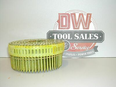 """Coil Nails 2 1/4"""" Inch Ring Shank Galvanized Zero 0 Degree for Duo-Fast Guns"""