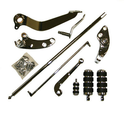 Chrome Forward Controls 1991-2011 Harley Dyna Complete Kit New w/ Pegs & Levers