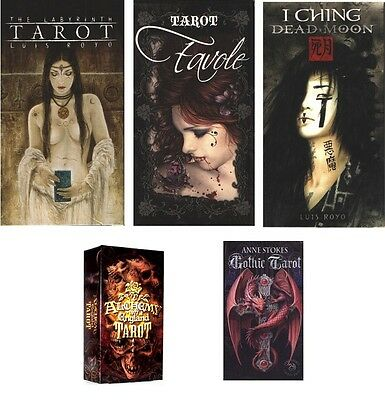 Fournier Tarot: Labyrinth, Alchemy 1977, Anne Stokes, Favole, I Ching Dead Moon