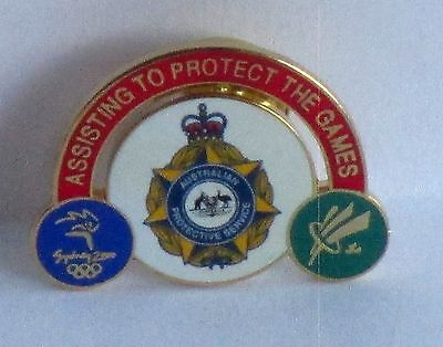 Australian Protective Services Sydney 2000 Olympic Games Rare Pin Badge #17