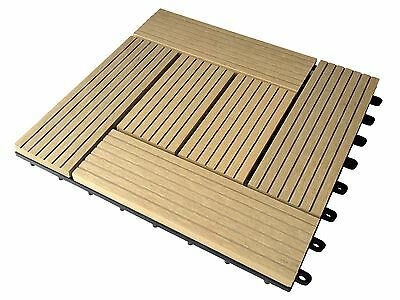 OUTDOOR PATIO FLOORING - SELF ASSEMBLY OUTSIDE / INSIDE FLOOR SYSTEM (10 SQ FT)