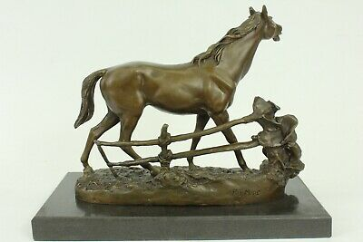 Whinny Horse by Pierre J Mene Solid Bronze Collectible Sculpture Statue Figurine
