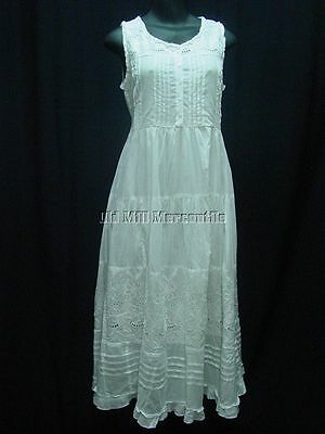 Victorian Civil War Old West style cotton chemise corset cover sundress