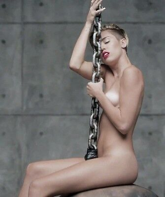 Miley Cyrus Wrecking Ball Nude 8X10 Glossy Music Photo - Hot!