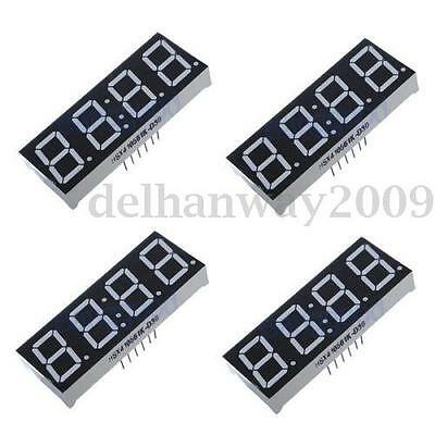 """4x 0.56"""" 7-Segment 4 Digit Super Red LED Display Common Anode Time 12 pins NEW"""