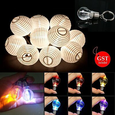 12 to 72 Pcs of LED Bulb Keyring light Battery Operated for Paper Lanterns Party