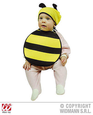 Baby Bumble Bee Bonnet And Bib Fancy Dress Costume Insect Bug Outfit