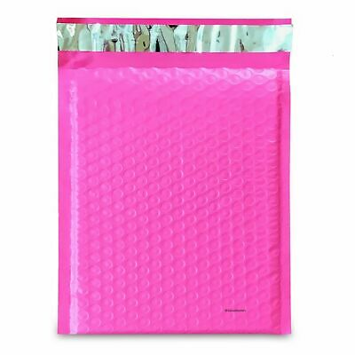 50 #2 PINK Poly Bubble Mailers Envelopes Padded Mailer Shipping Bags 8.5x12