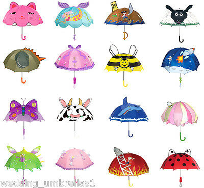 KIDORABLE Children Umbrella Range - BOYS/GIRLS RAIN UMBRELLAS - 15 designs