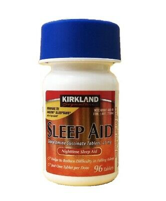 Kirkland Sleep Aid Doxylamine Succinate 25mg 96 Tablets