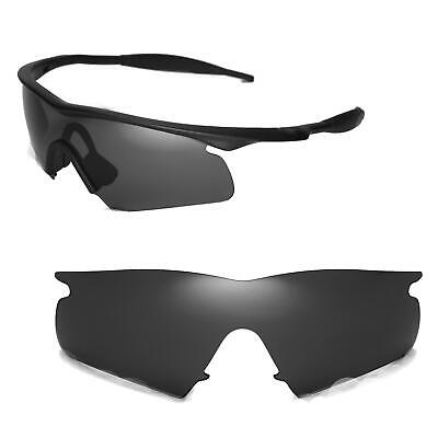New Walleva Black Replacement Lenses For Oakley New M Frame Hybrid Sunglasses